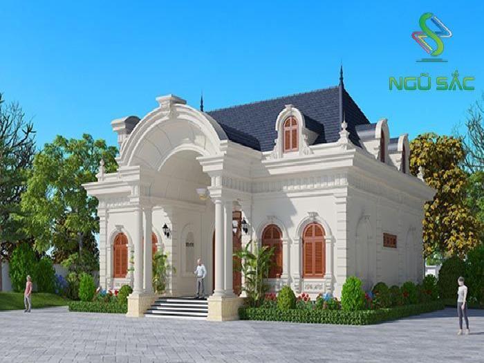 Phong cách nhà 1 tầng sân vườn cổ điển