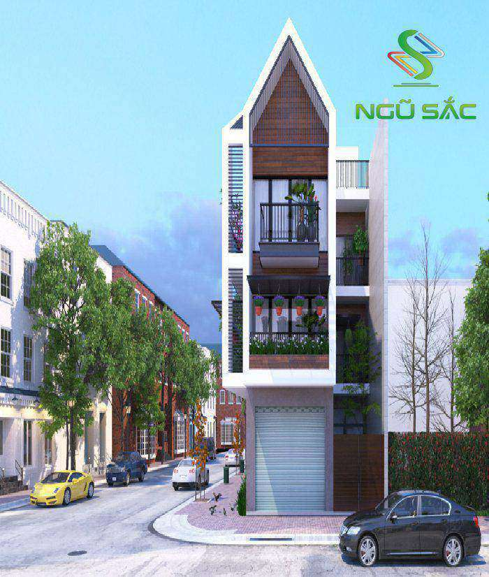 Nhà phố 3 tầng mái thái 2 mặt tiền