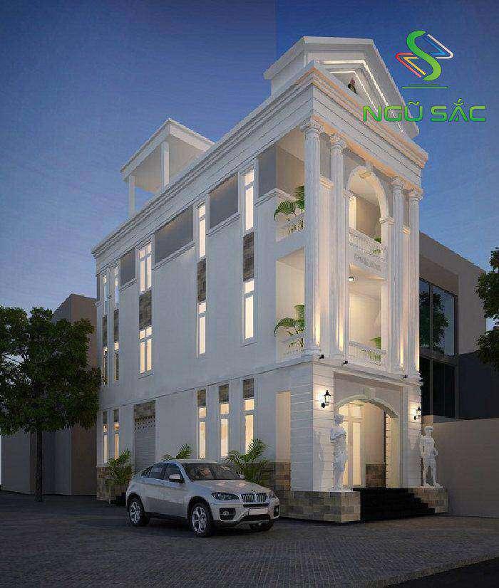 Nhà 2 mặt tiền tân cổ điển