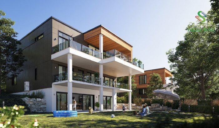 Mẫu biệt thự được thiết kế hình khối