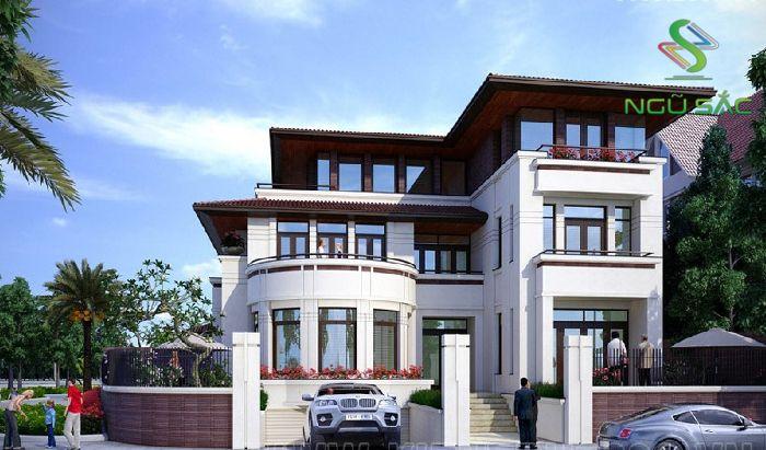Mẫu thiết kế biệt thự 3 tầng độc đáo