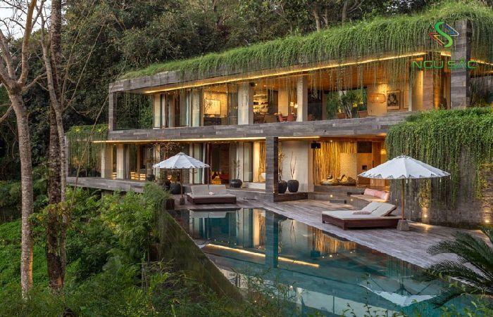 Biệt thự 2 tầng gần gũi với thiên nhiên