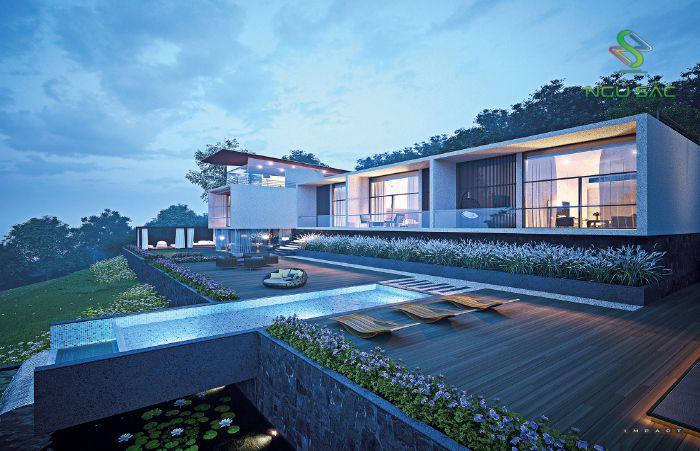 Phong cách biệt thự nhà vườn có hồ bơi