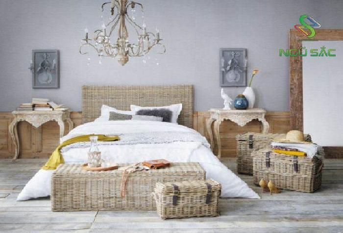 Phòng ngủ với nội bất bằng may