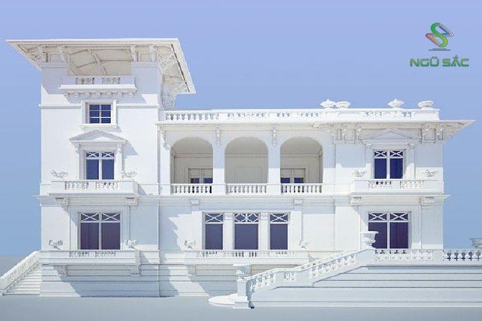 Mẫu biệt thự 2 tầng cổ điển sang trọng