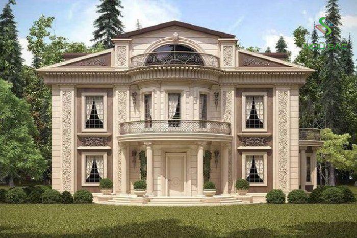 Thiết kế nhà 2 tầng cổ điển Pháp