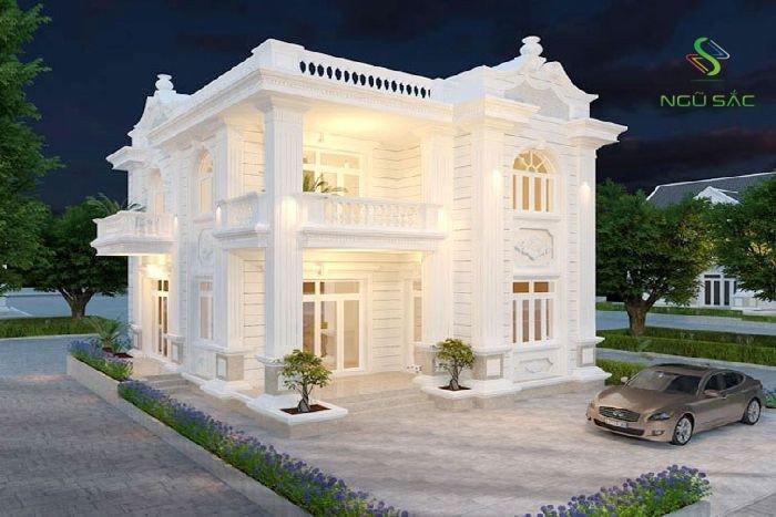 Phong cách cổ điển Pháp trong thiết kế biệt thự