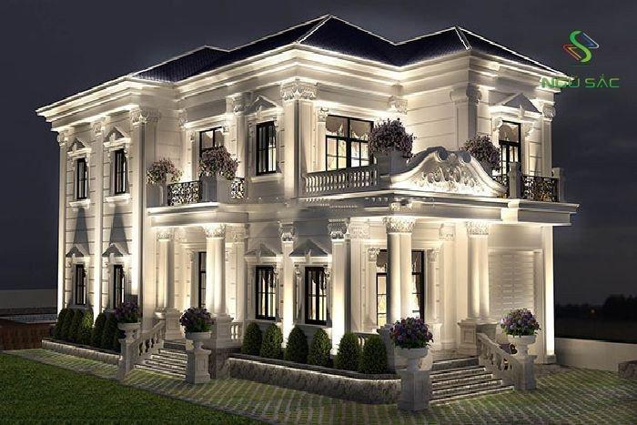 Kiểu biệt thự cổ điển 2 tầng