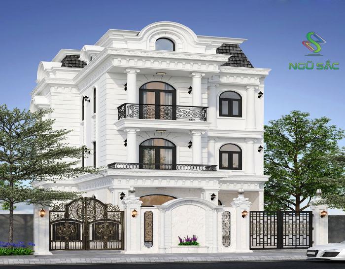 Biệt thự 3 tầng phong cách tân cổ điển
