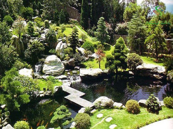 Mẫu sân vườn phong cách Trung Hoa