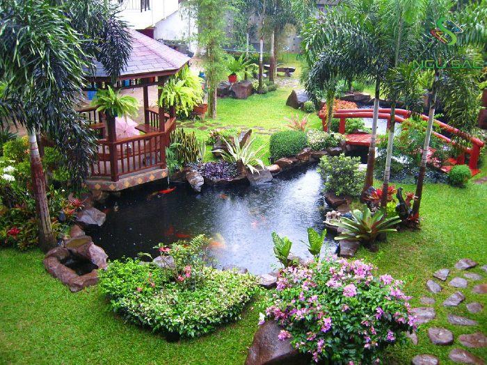 Kiểu Trung Hoa sân vườn dân giả