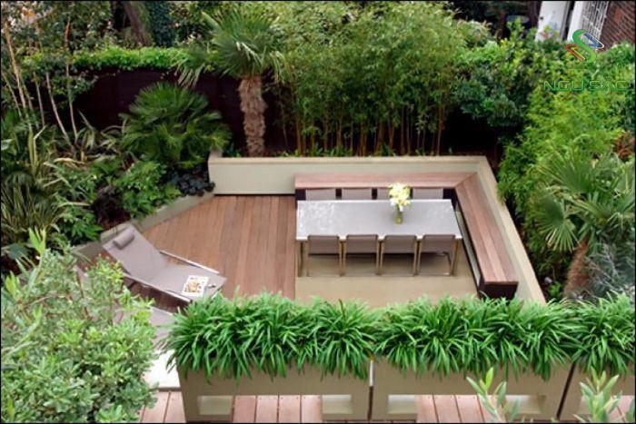 Thết kế sân vườn với không gian trà đạo