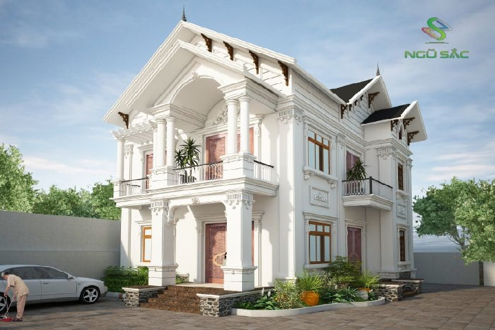 Biệt thự tân cổ điển mang kiến trúc Phục Hưng