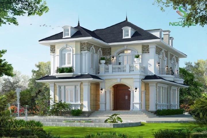 Biệt thự 2 tầng mái thái đẹp