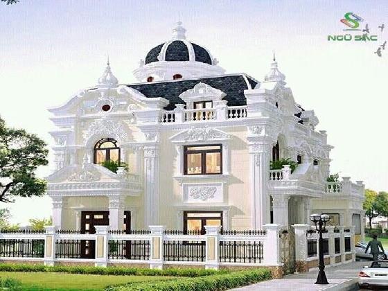 Thiết kế biệt thự cổ điển sang trọng