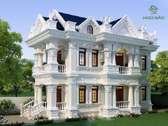 Thiết kế biệt thự Pháp cổ điển