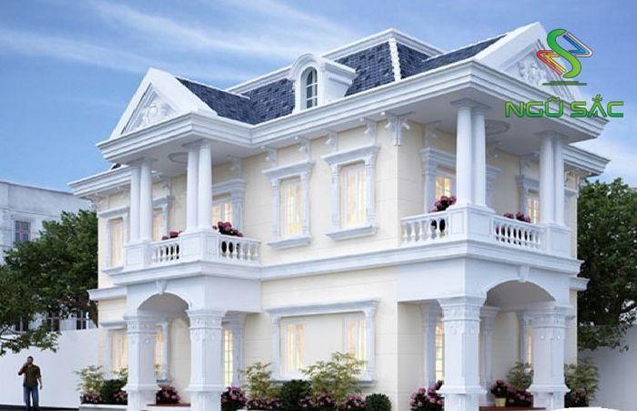 Phong cách cổ điển nhà 2 tầng