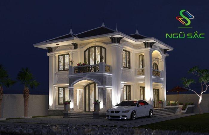 Thiết kế biệt thự phong cách cổ điển 2 tầng