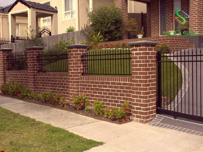 Mẫu hàng rào gạch cho biệt thự
