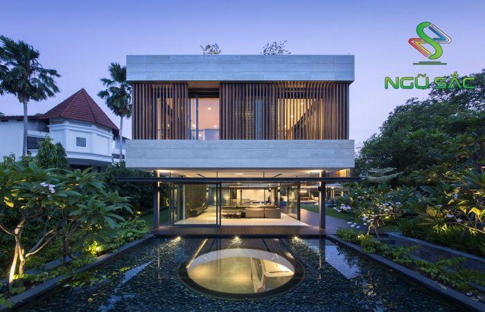 Thiết kế nhà 2 tầng phong cách hiện đại