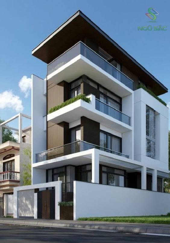 Thiết kế nhà phố 3 tầng 2 mặt tiền