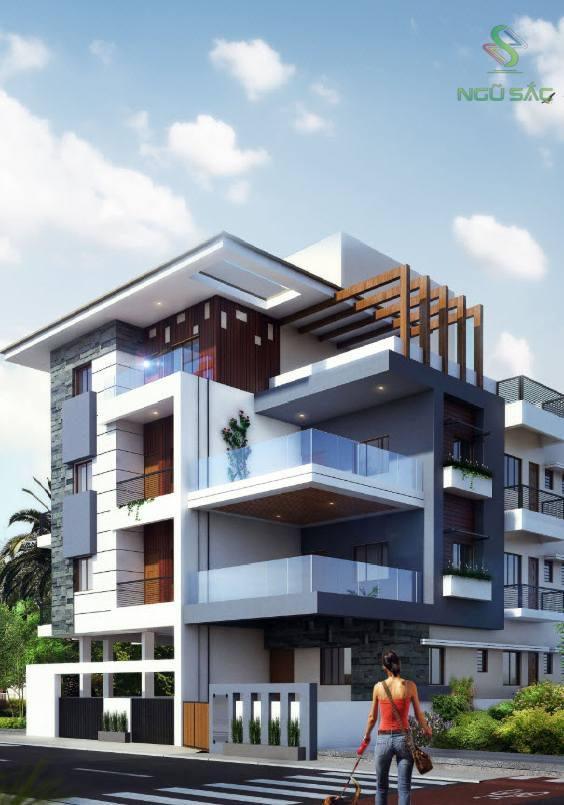 Thiết kế nhà phố kinh doanh 2 mặt tiền