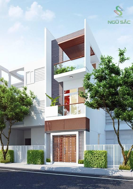 Thiết kế nhà phố đẹp mặt tiền 4m