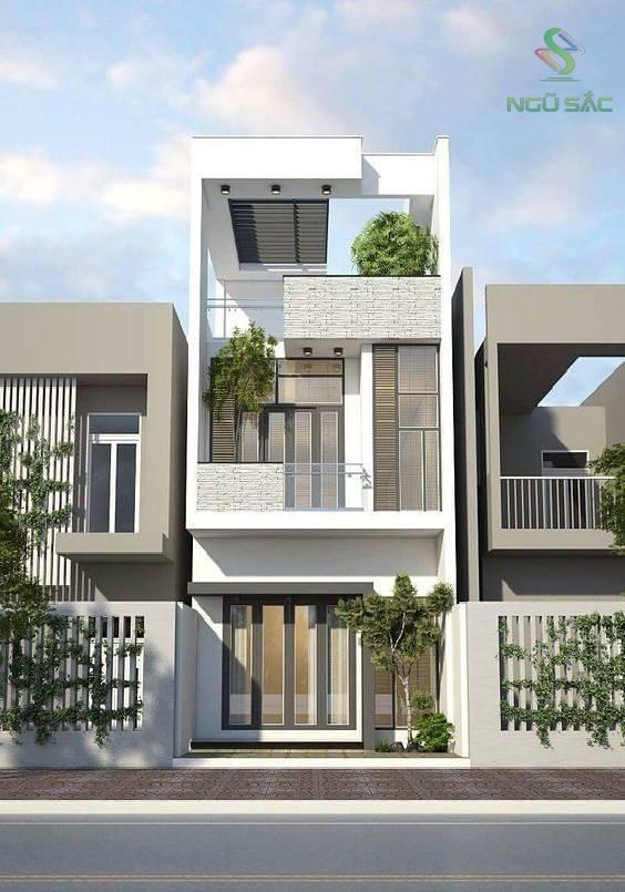 Mẫu thiết kế nhà phố 2 tầng đẹp