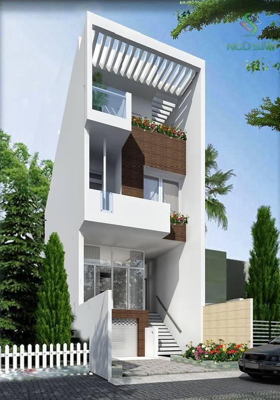 Thiết kế nhà phố giá rẻ 2 tầng