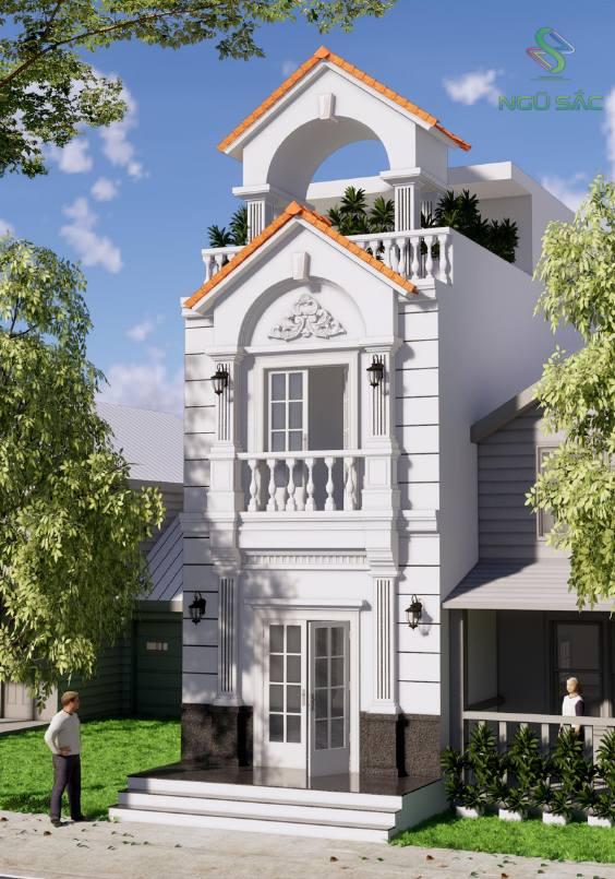 Thiết kế nhà phố cổ điển