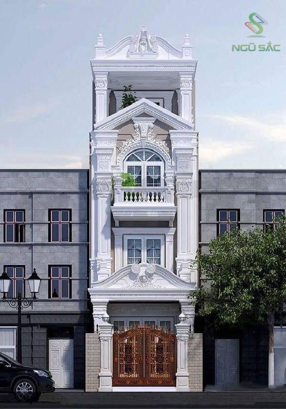 Thiết kế nhà phố 3 tầng cổ điển