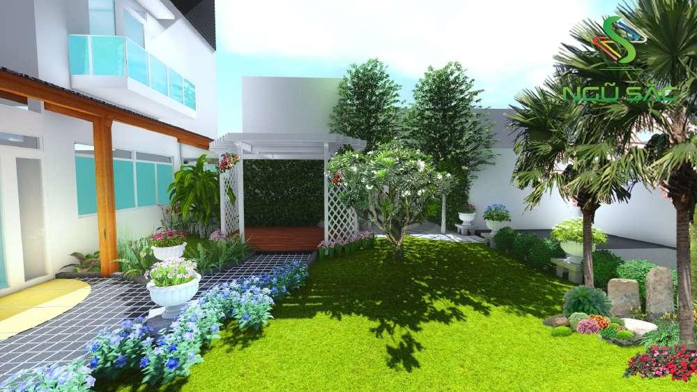 Sân vườn hiện đại đơn giản
