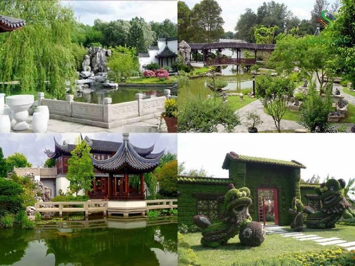 Mẫu thiết kế sân vườn phong cách Trung Hoa
