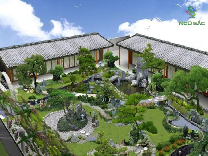 Mẫu sân vườn Trung Hoa đẹp