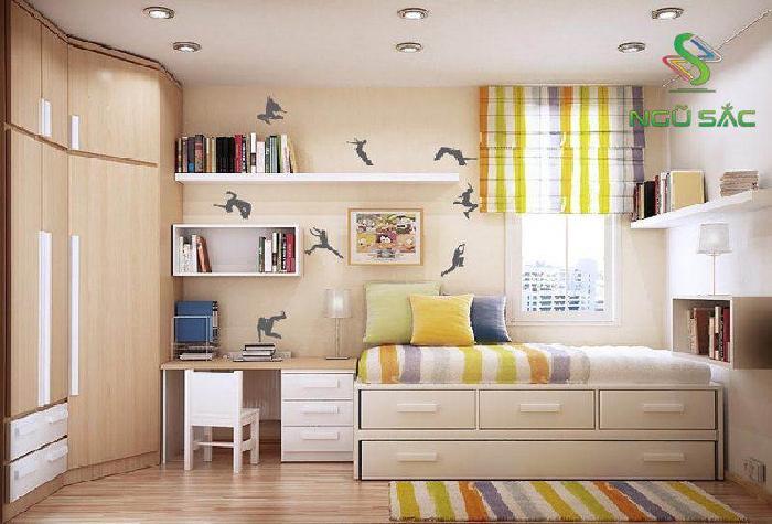 Thiết kế phòng ngủ đa chức năng
