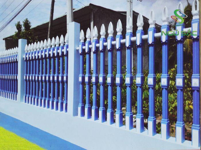 Thiết kế hàng rào vệ binh 2 lổ