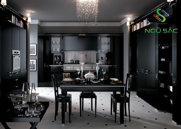 Khu vực bếp và bàn ăn kiểu Classic Reinterpreted