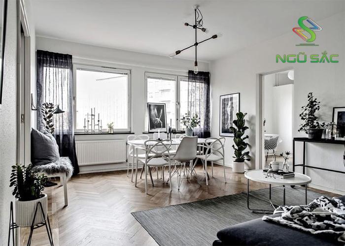 Phòng khách đặc trưng của phong cách Scandinavian