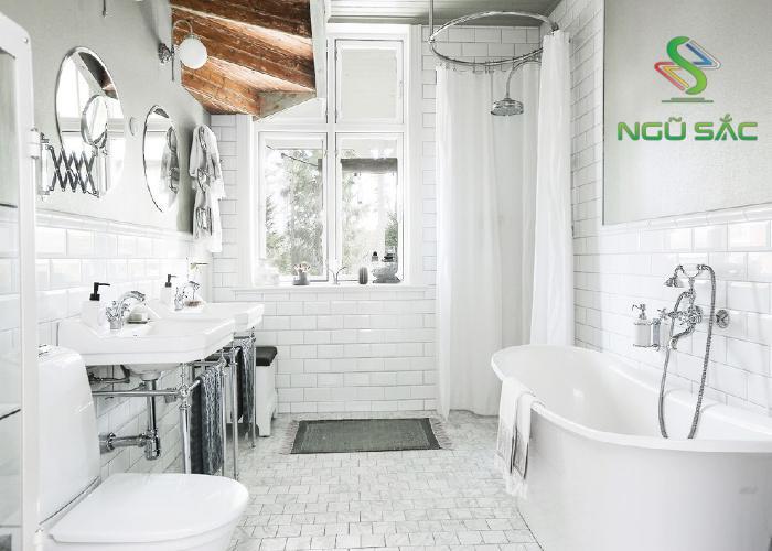 Phòng tắm phong cách Bắc Âu hiện đại