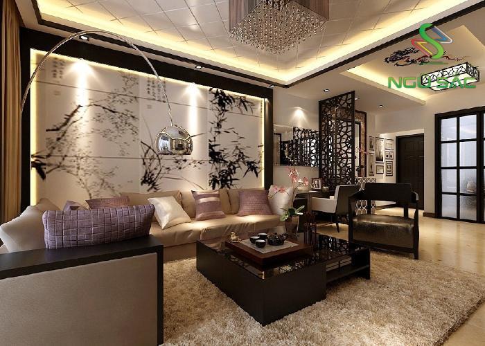 Phòng khách Á Đông truyền thống