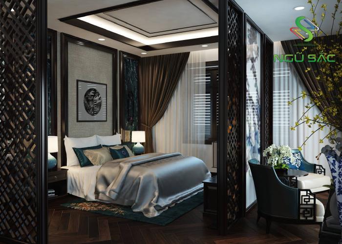 Phòng ngủ với hoa văn đặc trưng