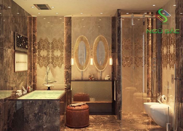 Thiết kế phòng tắm kiểu Á Đông