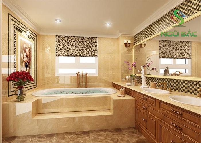 Phòng tắm phong cách classic
