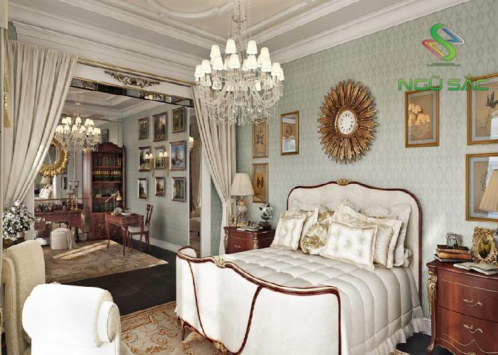 Thiết kế phòng ngủ phong cách Classic