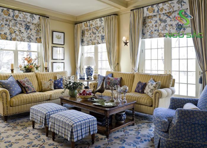 Thiết kế nội thất phòng khách kiểu đồng quê