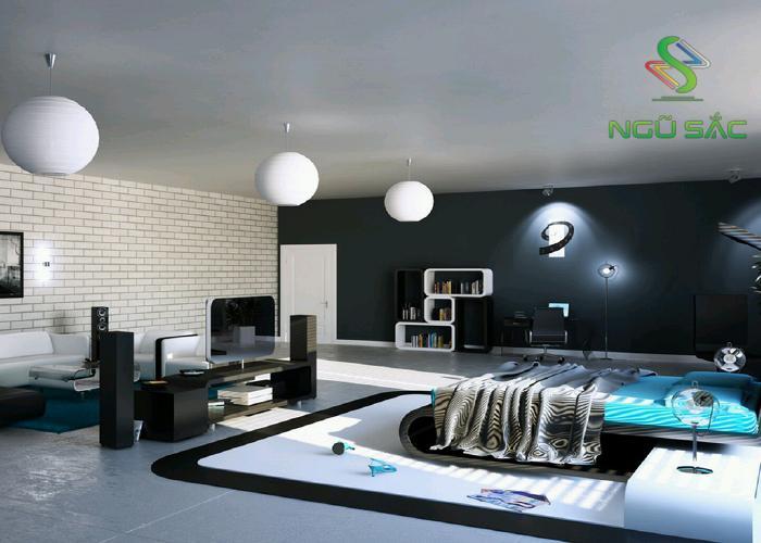 Phòng ngủ kiểu Hightech hiện đại