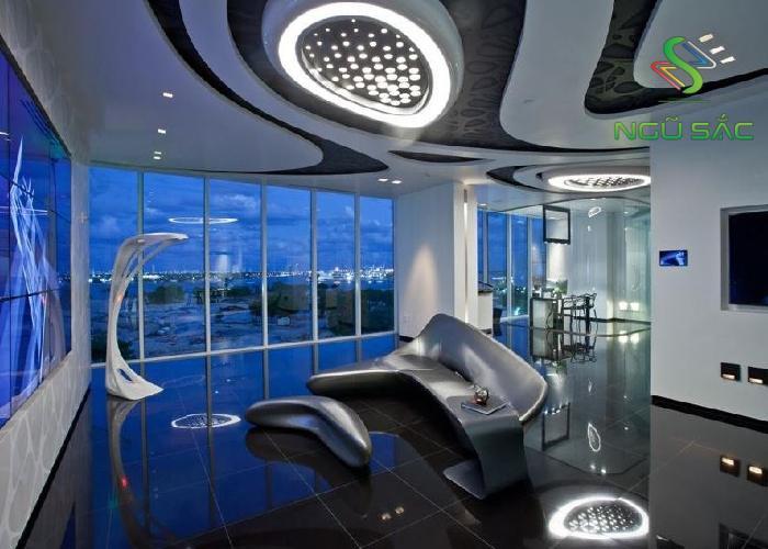 Phòng khách mới lạ với phong cách Hightech