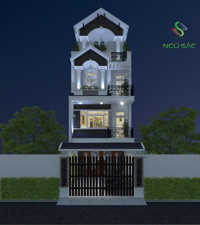 Thiết kế mãu nhà mái thái sang trọng