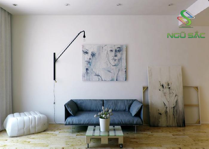 Không gian phòng khách Phòng ngủ đơn giản Minimalism