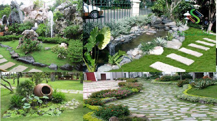 Gạch đá trong sân vườn